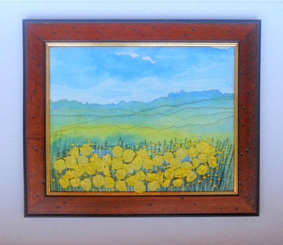 Embroidery Picture   fabric painting and free embroidery   Custom order for Veronica
