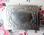 Vintage Silver Plated Western Belt Buckle