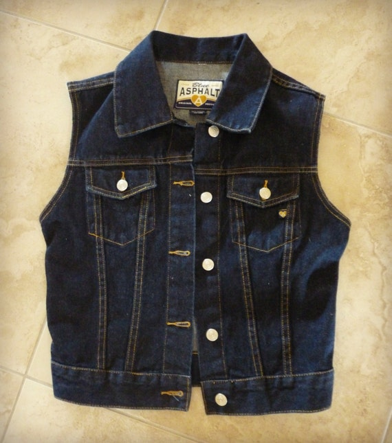 Vintage Inspired Denim Vest / Jean Vest / Hand Altered