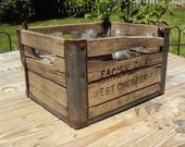 Free Shipping - Eachus Dairy Wooden Crate - West Chester, Pennsylvania