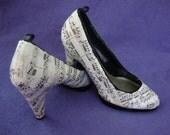 Sole music, court shoe, UK size 3