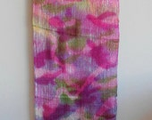Camouflage Inspired Woven Wall Hanging