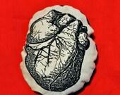 Valentine's Day Heart. Anatomical Heart. Pin Cushion. Pillow