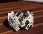 Comics Paper Origami Bangle Dylan Dog - Eco Friendly Jewelry - Bracciale carta