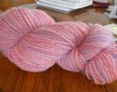Romney lamb's wool, natural, Handspun, Handdyed.  306 yards.  Free Shipping