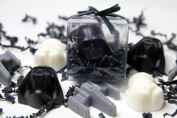 Soap Wars - Space Vador Kid Soap-  Child Party Favors - 15 SETS of  Star Wars Inspired Favors