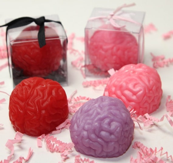Brain Soap for Geek Party, Halloween, Spooky Party   - Brain Soaps Set of 16