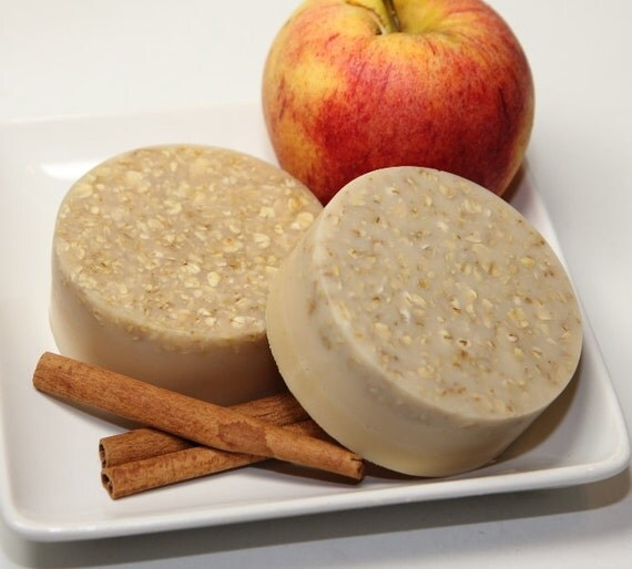 Soaps - Apple butter Oatmeal Soap - Oatmeal Exfoliating Clay Soap Bar