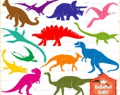Dinosaur Silhouette Clip Art ---- Personal and Small Commercial Use ---- BB 0071