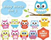 Baby Birds Set 1 ---- Clip Art ---- Personal and Small Commercial Use ---- BB 0090