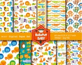Buy 2 Get 2 Free ---- Jungle Animals Digital Papers ---- Personal and Small Commercial Use ---- BB 0107