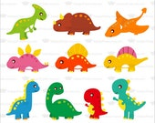Buy 2 Get 2 Free ---- Dinosaur Clipart 10 X 2 Sets ---- Personal and Small Commercial Use ---- BB 0187