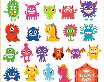 Buy 2 Get 2 Free ---- Digital Monsters ---- Personal and Small Commercial Use ---- BB 0001