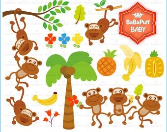 Buy 2 Get 2 Free ---- Dancing Monkeys ---- Personal and Small Commercial Use ---- BB 0007