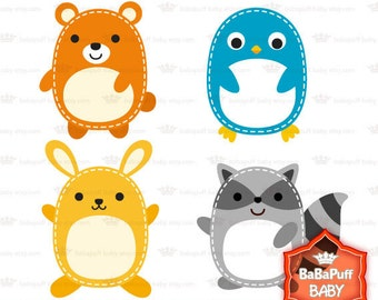 Buy 2 Get 2 Free ---- Cutie Animals Set 1 ---- Personal and Small Commercial Use ---- BB 0126