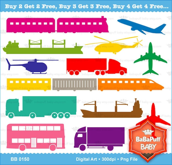 Buy 2 Get 2 Free ---- Transportation Silhouette ---- Personal and Small Commercial Use ---- BB 0150