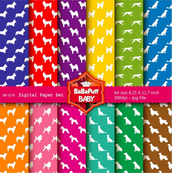 Buy 2 Get 2 Free ---- Dogs Digital Papers ---- Personal and Small Commercial Use ---- BB 0159