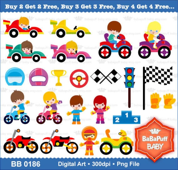Racing car clipart | Etsy