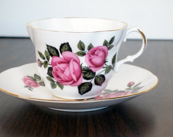 Valentine's Special take 20%off: Elegant Royal Dover Fine Bone China Tea Cup and Saucer (Made in England)