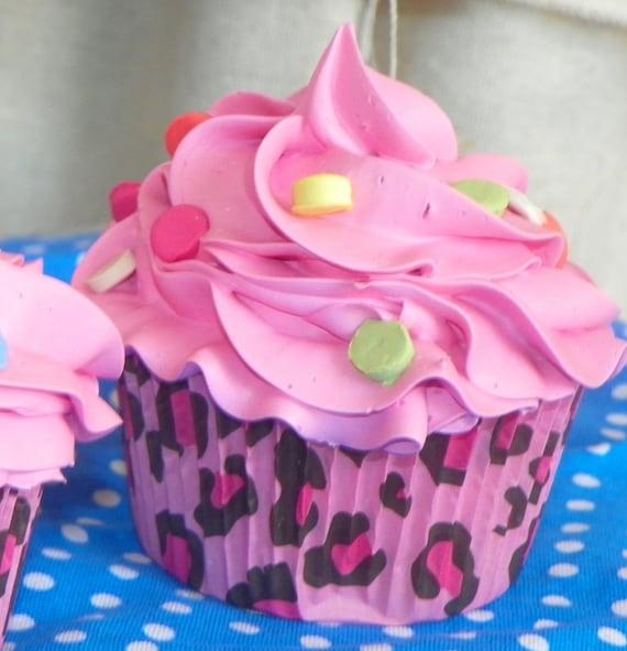 Custom made to order fake Cupcake or Cupcakes,you design standard size, damask or animal print