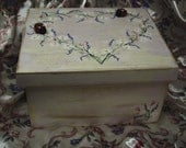 Fairy Princess Garden Tea Party Rosebud  Sparkle Celebration Ladybug Box Personalized Name Keepsake Unique Gift Shabby Chic Cottage Decor