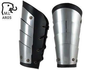 New Medieval style Pair of Bracers stainless steel Armor Larp ar05
