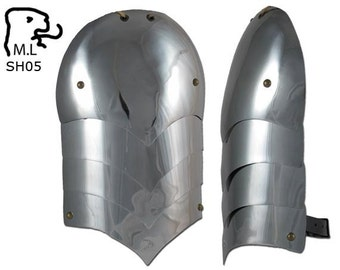 New pair of Medieval pauldron Warrior stainless steel Armor Larp SH05
