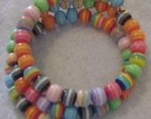 Multi-Coloured Assorted Beads Bracelet