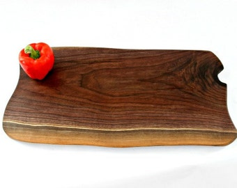 Cutting board, eco-friendly Black Walnut, organic gift,  sustainably harvested, live edge