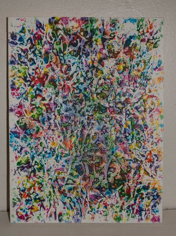 unique melted crayon art 9x12 canvas by pricejamie on etsy