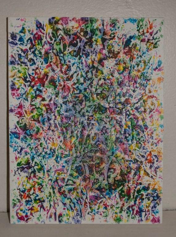 Unique melted crayon art 9x12 canvas for Unique canvas ideas