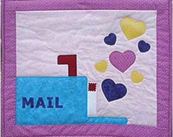 Instant Download Sweet Mail Valentine Quilt Pattern