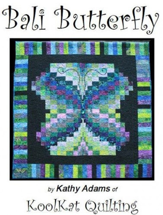 Instant Download Bali Butterfly Bargello-Inspired Wall Hanging