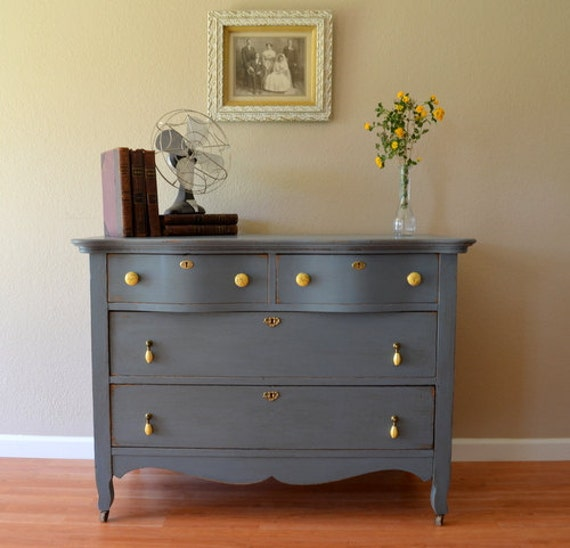 Reserved for Tina- Antique Painted Dresser