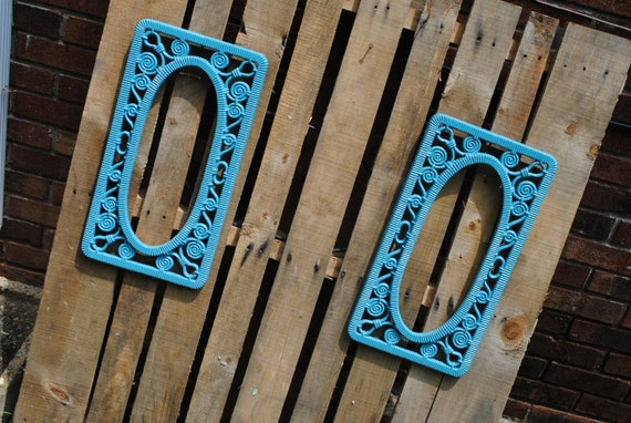 Shabby chic vintage Frames Turquoise