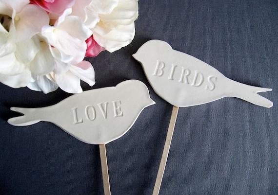 Love Bird Wedding Cake Toppers