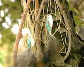 Traditional Ojibwe Willow, Shell & Turkey Dream Catcher