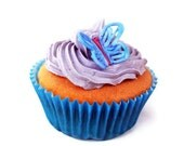 Lavender Butterfly Cupcakes