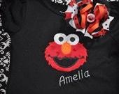 Elmo Shirt and bow set