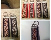 Cheetah,Leopard wristlet Keychain
