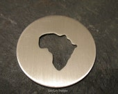 Africa Cut Out Metal Stamping Blank / Hand Stamp Shape Disc / Handstamping Supply / Custom Design Blank