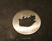 """Round Sterling Custom Stamping Disc--7/8"""" South Africa Cut Out"""