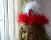 Doll size Fancy Nancy inspired red and white tiara