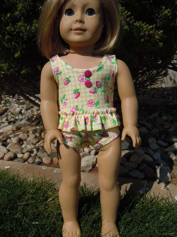 Swimsuit and Beach Towel for 18in or American Girl Doll