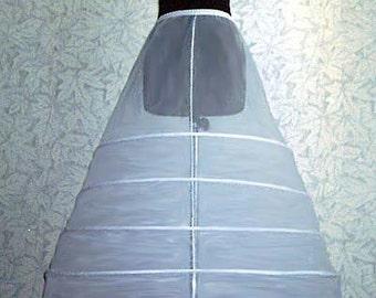 CRINOLINE Petticoat Slip for WEDDING DRESS Skirt Bridal Gown 5 Hoop
