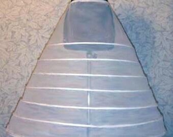 CRINOLINE Petticoat Slip for WEDDING DRESS Skirt Bridal Gown 7 Hoop