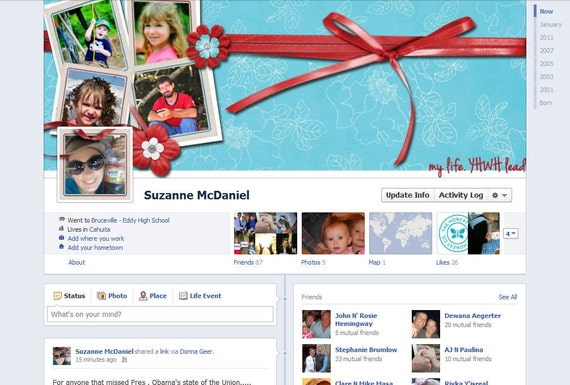 Custom Facebook Cover Photo for Timeline