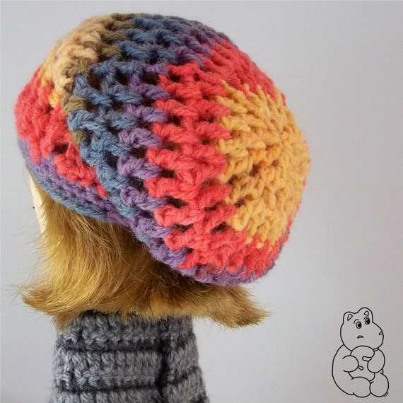 Autumnal Colours Mesh Slouchy Hat - A Hat For Blythe FREE SHIPPING