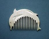 Wooden Comb Dolphin Hand Carved Natural. Best price