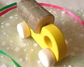 Wooden baby/kids toy TRUCK Milk 2. Covered with eco friendly water-based paints - Ready to Ship